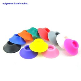 Wholesale Ego Suckers - 100pc lot USA Hottest Sales ecigarette base bracket ecig holders Silicone Sucker for ego atomizer battery rechargeable battery Fast DHL