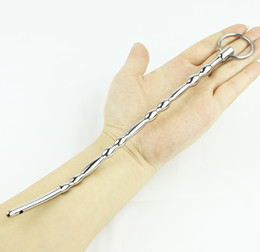 Wholesale Urethral Sounding Devices - 2016 NEW 240mm Long Urethral Sound toys Stainless steel Penis Plug Stretching Male Chastity Device Urethral Dilators Sex Toys