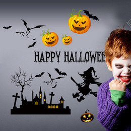 Adesivi murali rimovibili decorativi di Halloween Decalcomanie murali Vinile Art Room Decor Decorazione per finestra di Halloween da porcellana live tv fornitori