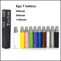 Wholesale Ego T Rechargeable Cigarette - Top quality ego t Electronic Cigarette battery 650 900 1100mAh Ego T battery for CE4 CE5 Mt3 GS H2 ecig Atomizer