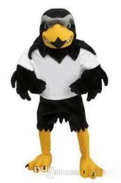 Wholesale Mascot Costume Plush - High quality Hot sale 2017 Deluxe Plush Falcon Mascot Costume Adult Size Eagle Mascotte Mascota Carnival Party Cosply Costum