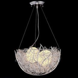2019 candelabros de arte minimalista Ninho do pássaro LED lustre moderno e minimalista personalidade criativa sala de jantar lustre crianças quarto varanda bar luz da sala candelabros de arte minimalista barato