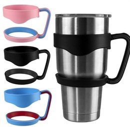 Wholesale Wholesale Black Plastic Cups - New Plastic Handles for 30oz Yeti Rambler Tumbler Cups Secure Holder For Young Yeti 30oz Stainless Steel Insulated Tumbler Mugs DHL free
