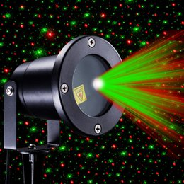 Wholesale G Stage - Hot New R&G Waterproof Outdoor Landscape Garden Projector Moving Laser Xmas Stage Light Sparkling Landscape Projector Lights