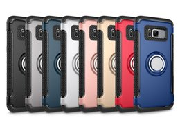 Wholesale Pcs Value - Valued 360 degree rotating support Ring armor TPU PC hybird back case with Kickstand for Samsung s8 s8 plus
