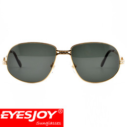 Wholesale protection business - New Arrived Brand Designer Sunglasses Men Women Business Travel Sunglasses Metal Frame Green UV400 Protection Lens With Original Box