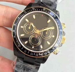 Wholesale Customized Stainless Bracelets - Mens Limited Edition Kravitz Design LK Customized Best Edition Black Dial PVD bracelet 4130 chronograph automatic movement Mens Watches