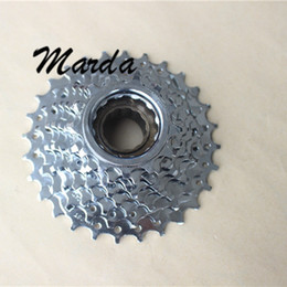 Wholesale Bicycle Freewheel - Wholesale-20Pcs Lot Bike Free Wheels 7 Speed 13 T Aluminum Cycling Fly Wheels Bicycle Sprocket Bicicleta Todoterreno Bicycle Accessories