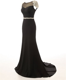 Wholesale Sexy Social Dresses - Free Shipping Style prom Dresses 2017 Vestido Social Curto Sexy Black Dress Evening Mermaid Backless Prom Dresses