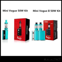 Bateria vogue on-line-Amigo Mini Vogue 50 W Kit Recém Mini Vogue II 50 W Kit Com Mini Riptide Bobinas 1200 Mah Bateria 100% Original