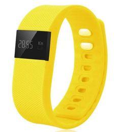 Детские часы для сна онлайн-TW64 LED смарт-умный браслет Bluetooth браслет часы браслет водонепроницаемый Passometer сна трекер будильник для Android IOS телефон