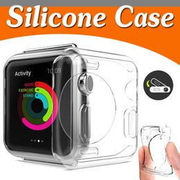 Wholesale Silicone Watch Covers - 38mm 42mm Slim Transparent Crystal Clear Soft TPU Rubber Flexible Lightweight Protective Cover Case For Apple Watch iWatch Series 1 2 3