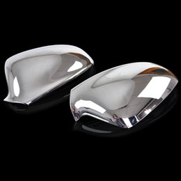Wholesale Opel Mirror - 2011-2014 Vauxhall Opel Astra J ABS Chrome Rear View Mirror Cover Side Door Wing Mirror Trim Cover Car Styling Accessories 2 pcs set