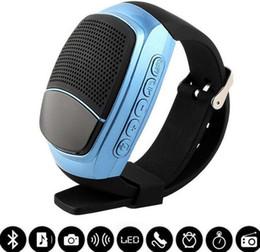 Wholesale Dock Radio - B90 Mini Bluetooth Speaker Smart Watch Speaker Wireless Subwoofers Speaker With Screen Support TF FM USB Free Ship