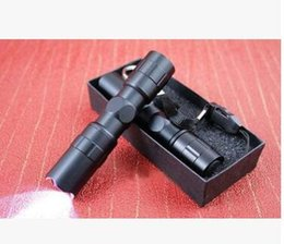 Wholesale Led Flashlights Key Chains - 3W Mini LED Waterproof Flashlight Torch Handy Light Lamp Hunting Keychain Flashlight + Key chain + Black gift box