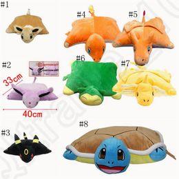 Wholesale Plush Pillows For Kids Toy - Poke Plush Pillow 40cm*33cm Charmander Charizard Snorlax Dragonite Throw Pillow Cushion Toy Soft Stuffed Doll For Kids Christmas Gif LJJO859