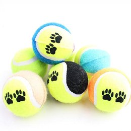 Wholesale Dog Toys Balls - New Airrival 60Pcs Pet Supplies Dog Funny Toy Tennis Balls Runfetch Throw Play Toy Chew Toys