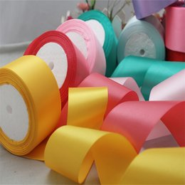 Wholesale Wholesale Polyester Webbing - 50mm Cotton 25 Yard Pretty Silk Satin Organza Polyester Ribbon For DIY Wedding Party Decoration Webbing Crafts Gift Packing Belt