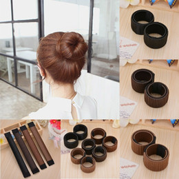 Wholesale Hair Tools Bun Maker - Women Magic Hair Bun Maker Hair Styling Donut Former French Twist Tool band