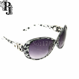 Wholesale Custom Printed Glasses - 5pcs lots Woman Classic Big Frame Leopard print Sunglasses Custom Snap Button Sunglasses Polarized Sun Glasses SJSB1674