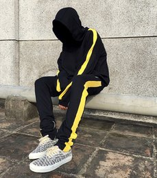 Wholesale Men Leisure Pants - 17SS FOG new side yellow stripe leisure elastic waist sports pants straight canister same men and women M-XXL