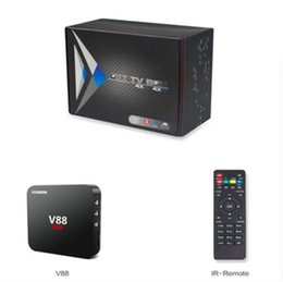 Wholesale Free Online Movies - V88 Android TV Box Rockchip 3229 Smart Boxes 4K Quad core 16.1version Full Loaded support 3D Free Movies Online Mini PC