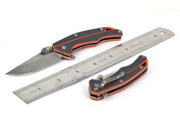 Wholesale Tactical Lanyards - Sanrenmu SRM 7076 7076LJ Pocket EDC Folding Knife 12C27 Blade G10 Handle with Lanyard Hole and Clip