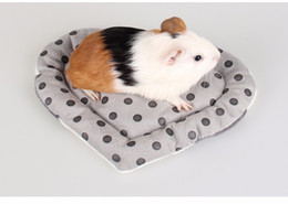 Сердце свиньи онлайн-Анти-укус маленький домашнее животное Хомяк в форме сердца коврик мягкий короткий плюшевые зима теплая домашнее животное морская свинка Ежик кровать дом игрушки для животных