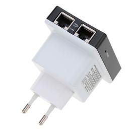 Répéteur de mini routeur sans fil en Ligne-300Mbps Mini répéteur Wifi sans fil N antenne 802.11b / g / n routeur 802.3 / 3u EU EU UK Adaptateur réseau Expander Amplificateur