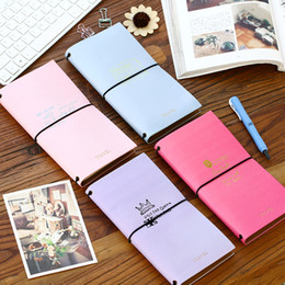 Wholesale Craft Paper Notebook - Wholesale- 1Pc PU Leather Handmade Craft Paper Traveler's Notebook Journal Diary Notepad Vintage Soft Copybook Stationery School Supplies