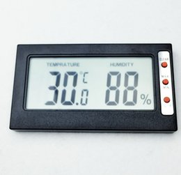 Wholesale temperature humidity display - Mini portable Hygrometer Temperature tester Humidity Meter Thermometer large screen digital LCD display Celsius Fahrenheit conversion
