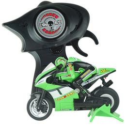 Wholesale Mini Moto Bikes - Wholesale- 2.4GMhz 1:20 High Speed Remote Control Mini RC Motorcycle Moto Bike RTR