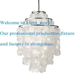 Wholesale Lamp Seashells - Verner Panton Design Shell lamps Fun 2 and 3 Circle DIY Shell Pendant Lamp seashell chandelier lights FUN pendant modern chandelier 1270