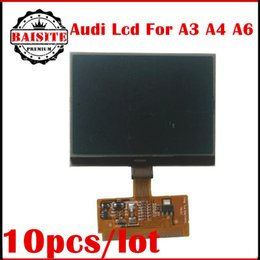 Wholesale A6 Lcd Vdo - High quality 10pcs lot free dhl New VDO LCD Display for Audi A3 A4 A6 for VW audi lcd display repair hot sales