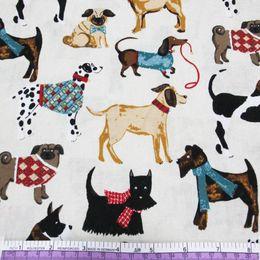 45426 50 * 147 cm * 3 vari cani tessuto di cotone stampato per bambini biancheria da letto tessile per cucire bambola tilda, fai da te materiali realizzati a mano da