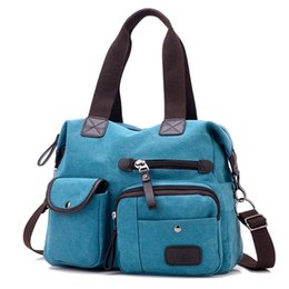 Wholesale Travel Cloth Shoulder Bag - New Canvas Bag Shoulder Messenger Sports Cloth Leisure Travel Bags