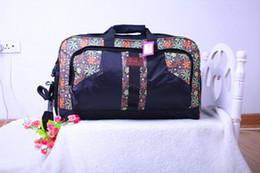 Wholesale Big Computer Bag - Nylon Big Travel Handbag Waterproof Luggage Oxford Bag Fashion Printing Travel Capacity Portable Bag Geometry package