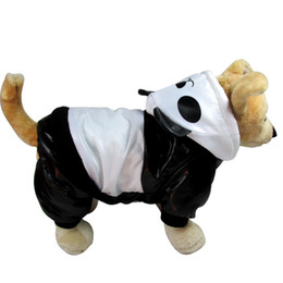 Wholesale Warm Cute Hoodie - Dog Costume New Styles Cute Panda Shapes Pet Jacket Polyester Winter Warm Coat Thick Hoodie Halloween Pet Jacket Winter Dog Clothes D-007