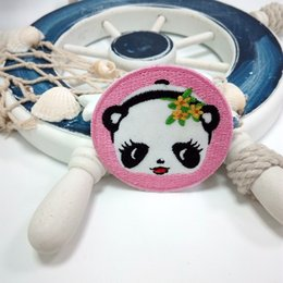Wholesale Clothing Stickers For Kids - bear panda cartoon animal patch for children kid clothing patches DIY stickers affixed decorative accessories hat clothes