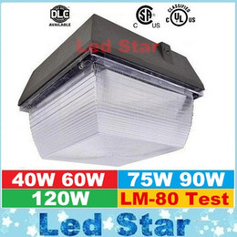 Wholesale Wall Station - 40W 60W 75W 90W 120W LED Canopy Lights For Gas Station Lighting Waterproof Outdoor Led Floodlights High Lumens AC 110-277V UL DCL ETL
