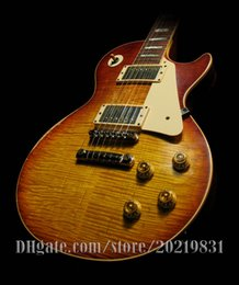 Wholesale Electric Guitars Aged - 10S Custom Shop 1959 Billy Gibbons PEARLY GATES AGED Number 6 Electric Guitar