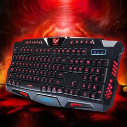 Wholesale Wired Backlit Keyboard - 3 Color LED Backlight Keyboard Wired USB Illuminated Cool Ergonomic Backlit Gaming Keyboard Switchable Computer Laptop USB Wired Backlight
