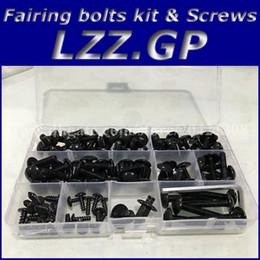 Wholesale Ninja Kawasaki Fairings Zx9r 1994 - Fairing bolts kit screws for Kawasaki NINJA ZX9R 1994 1995 1996 1997 ZX 9R 94 95 96 97 ZX-9R fairing screw bolts Black silver