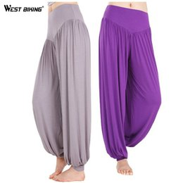 Wholesale Yoga Pants Dancing Hot - Wholesale-Hot Sale Fashion Yoga Pant Women Harem Pant Sport Fitness Dance Pants Big Yards Loose Trousers Bicycle Cycling Bike Yoga Clothes