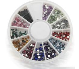 Wholesale Nail Kit Diamond - Fashion 2016 Diamond Nail Art Tool 12 Color 2.0mm Artificial Diamond Nail Art Tool Kit For Women Lady Girl