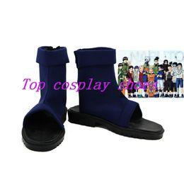 Wholesale Custom Ninja Costume - Wholesale-Freeshipping anime Naruto Konoha Ninja Village dark blue Cosplay Shoes Boots Sandals Ninja custom-made for Halloween Christmas