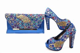 Wholesale Green Shoes Matching Bag - 2017 high quality italian shoes and bag purse ,wholesale shoes and purse set high heel pumps shoes matching bag set
