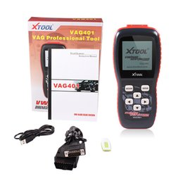 Wholesale Obdii Abs Engine - XTOOL VAG401 OBD2 Diagnostic Scanner For audi  VW Skoda Seat VAG 401 OBDII Code Reader ABS SRS Engine dhl free shipping
