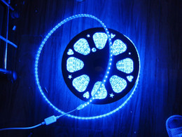Wholesale High Voltage Dc Power - 100M 110V 220V High Voltage SMD 5050 RGB Led Strips Lights Waterproof + IR Remote Control + Power Supply