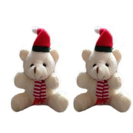 Wholesale Stuffed Bear Ornaments - 9cm Plush Christmas Teddy Bear Doll Stuffed Plush Toy For Kids Christmas Gift Christmas Ornaments 20PCS Plush Animals Toys t